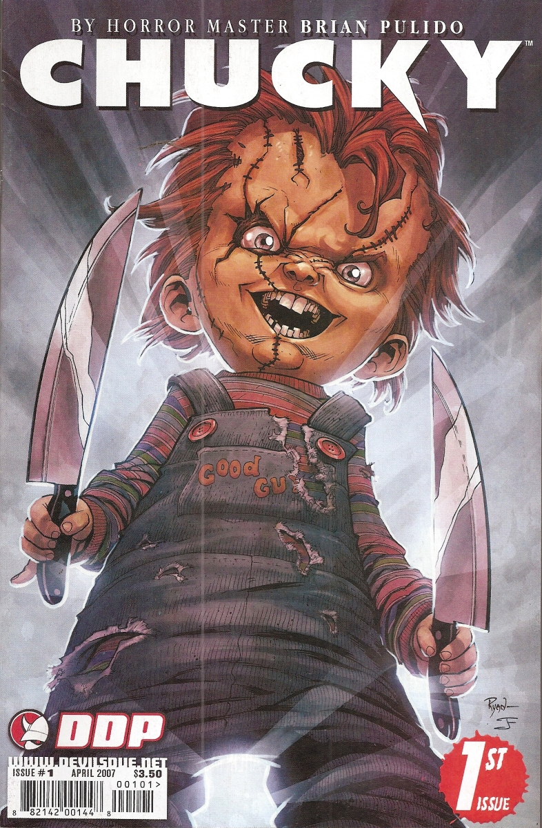 The Chucky comic series released by Devil's Due Publishing which lasted 23 issues. Chucky's first appearance was in 1993 from Innovation comics.