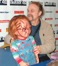 Brad Dourif with his alter ego Chucky!